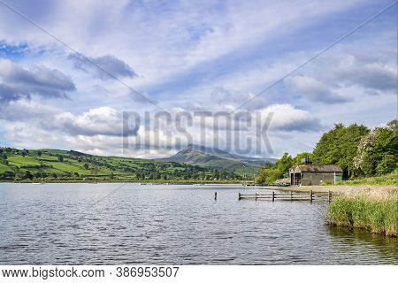Bala Lake, Llyn Tegid, In North Wales, On A Fine Spring Evening. Looking Towards The Aran Mountains.