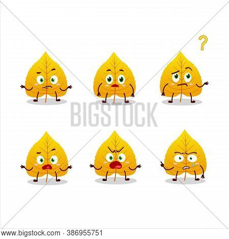 Cartoon Character Of Yellow Dried Leaves With What Expression
