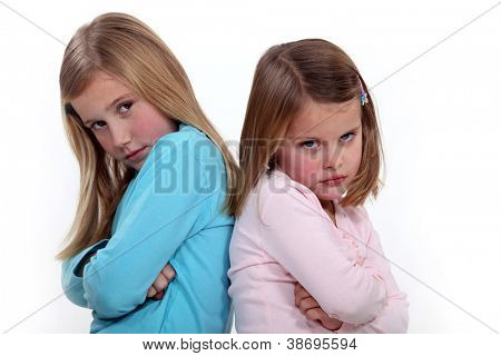 Two sisters arguing