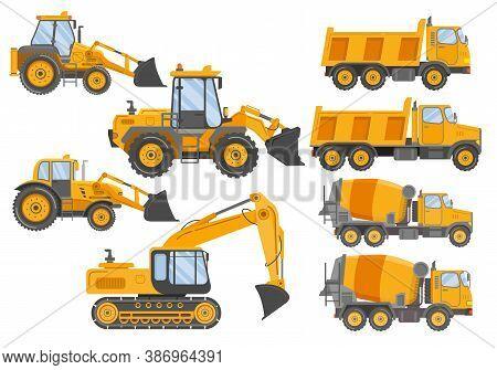 Construction Track Bulldozer Backhoe Dipper.hydraulic Excavators.concrete Mixer Truck.construction E