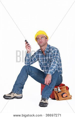 Tradesman fed up with his ringing phone