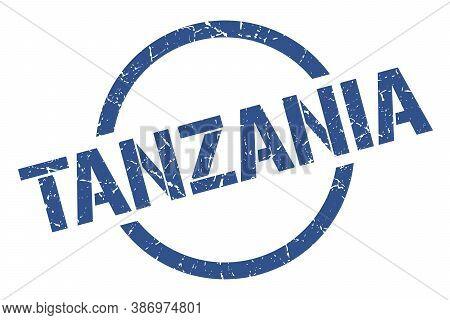 Tanzania Stamp. Tanzania Grunge Round Isolated Sign