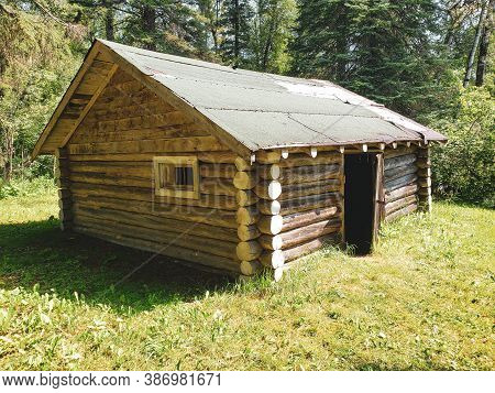 Old And Weathered Ranger Cabin On The Baldy Mountain Hiking Trail At Duck Mountain Provincial Park,