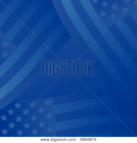 United States Blue Background