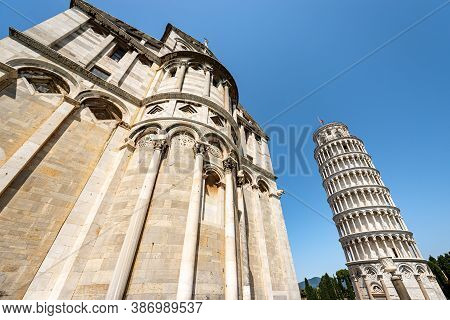 Pisa, The Leaning Tower And The Cathedral (duomo Di Santa Maria Assunta), Piazza Dei Miracoli (squar