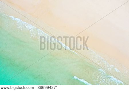 Aerial View. Top View.amazing Nature Background.the Color Of The Water And Beautifully Bright.azure