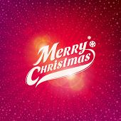 Holidays card design with inscription - Merry Christmas poster