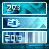 Website Headers or Banners for Happy New Year. EPS 10 poster