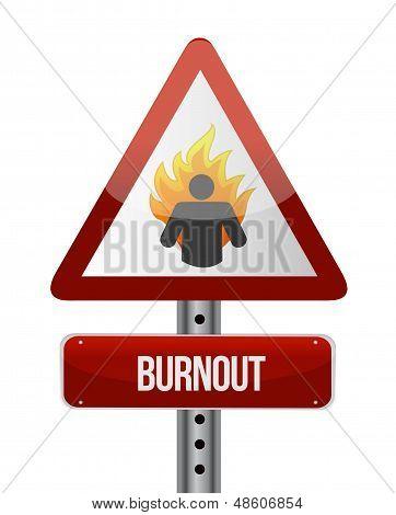 Burnout Road Sign Illustration Design