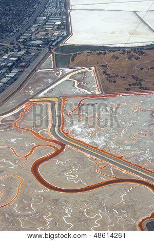 Salt evaporation ponds