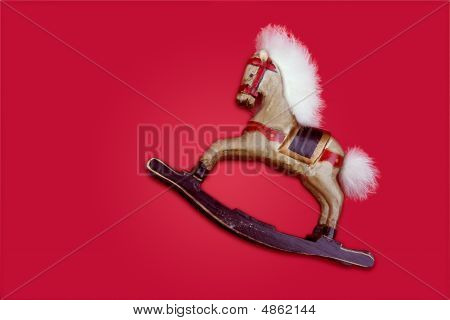 An Old Wooden Horse, Christmas Decoration