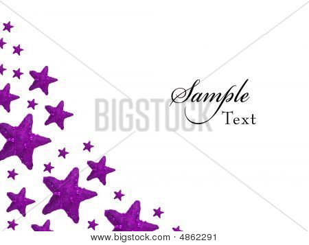 Purple Christmas Stars Backgroung