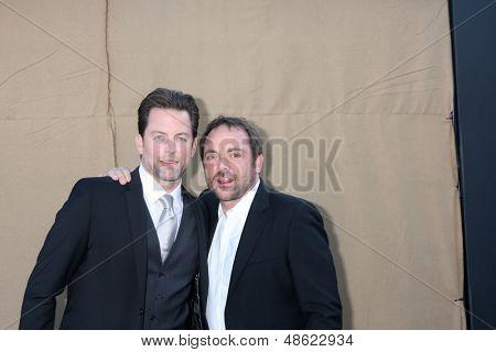 LOS ANGELES - JUL 29:  Michael Muhney, Mark Sheppard of