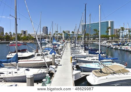 Long Beach Marina California.