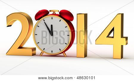 Year 2014 With Clock