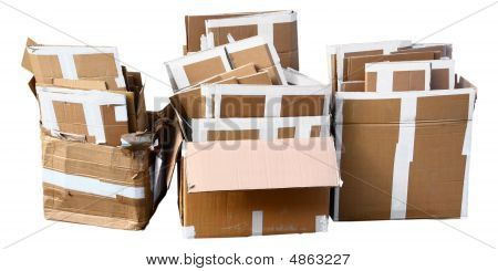 Isolated Carboard Rubbish