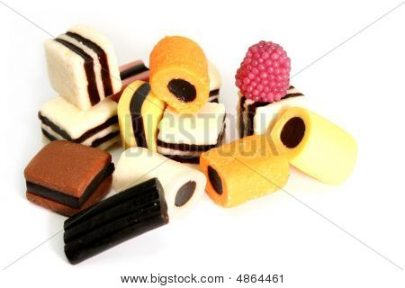 Fruit Sweets In The Form Of Various Color Rolls