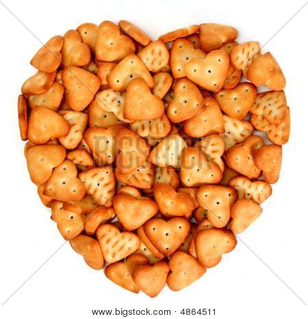 Heart Made From Salty Cookies