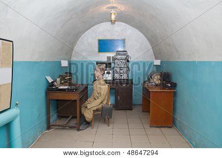 Telegraph Station In Military Soviet Bunker