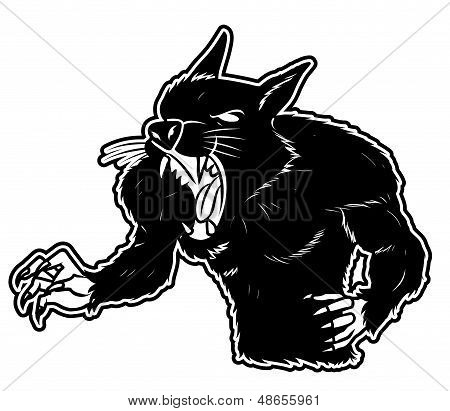 black and white clipart were wolf