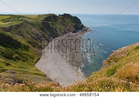 Hartland Point beach near Clovelly Devon England poster