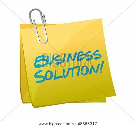Business Solution Post Illustration Design
