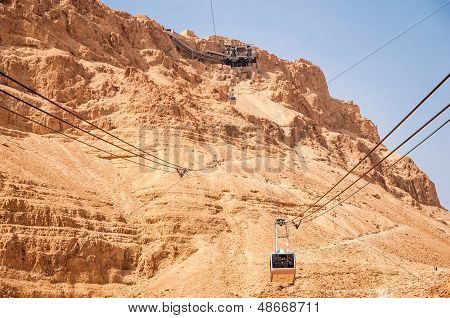 Cable car at Massada