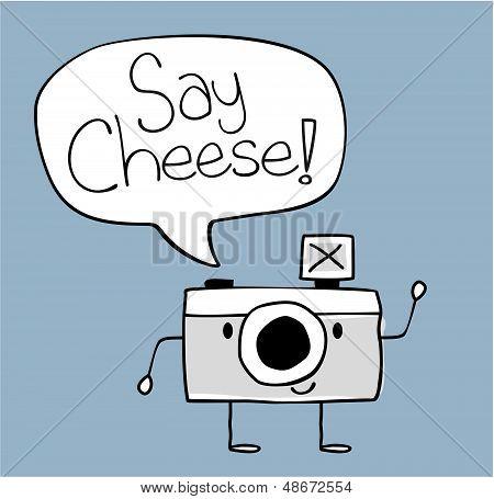 camera say cheese cartoon