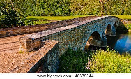 Burnside Bridge, In Antietam National Battlefield, Maryland.