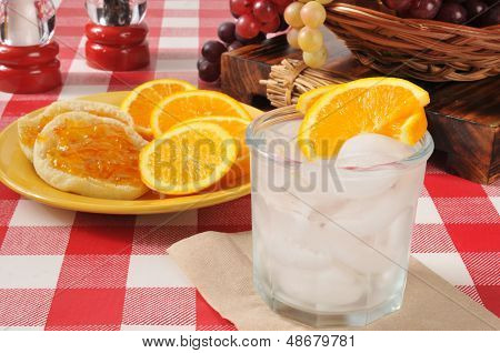 English Muffins With Orange Marmalade And A Spritzer