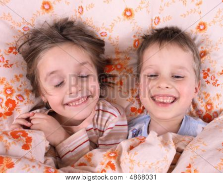 Smiling Young Pair