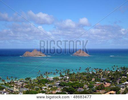 The Mokulua Islands And Lanikai Beach