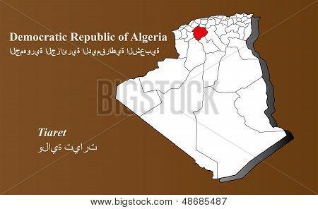 Algeria - Tiaret Highlighted
