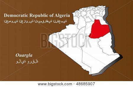 Algeria - Ouargla Highlighted
