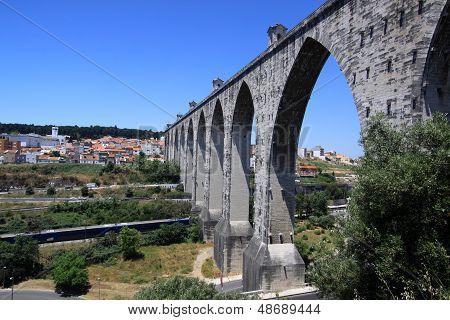 Lisbon - historic aqueduct