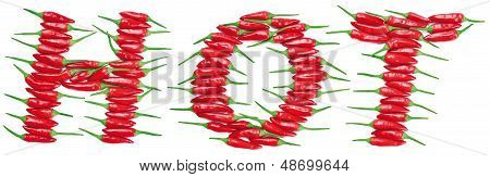 Red Hot Chili Peppers Lettering HOT