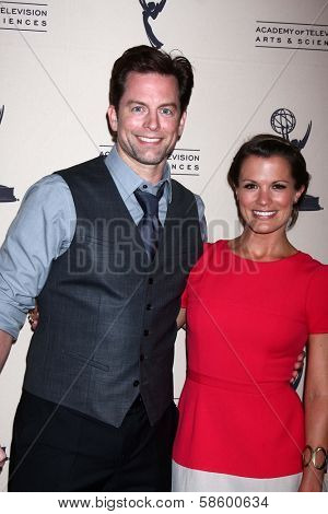 Michael Muhney and Melissa Claire Egan at the Daytime Emmy Nominees Reception presented by ATAS, Montage Beverly Hills, CA 06-13-13