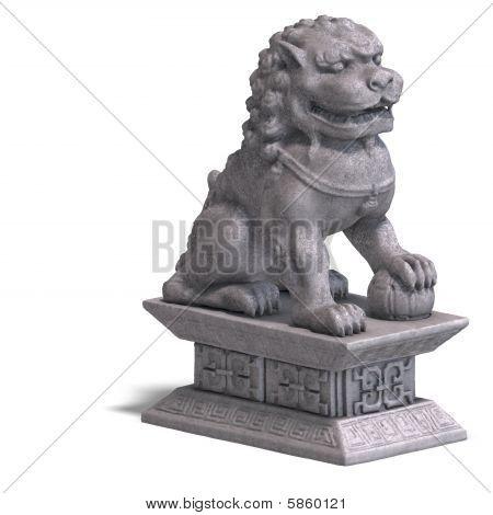 Stone Chinese Foo Dog