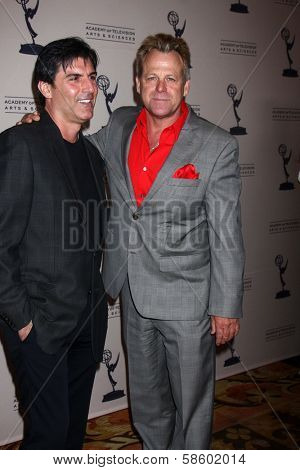 Vincent Irizarry and Kin Shriner at the Daytime Emmy Nominees Reception presented by ATAS, Montage Beverly Hills, CA 06-13-13