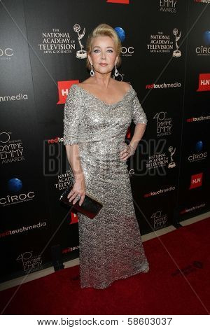 Melody Thomas Scott at the 40th Annual Daytime Emmy Awards, Beverly Hilton Hotel, Beverly Hills, CA 06-16-13
