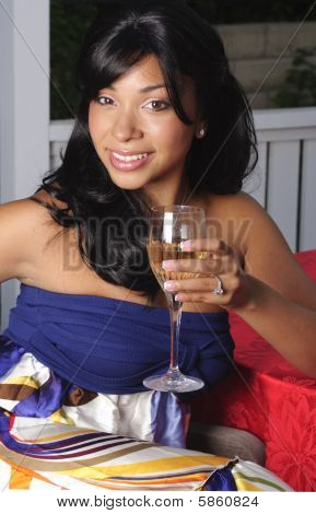 Alexis With Wine Glass