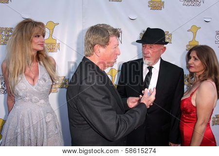 Laurene Landon, Larry Cohen and Jonathan Banks at the 39th Annual Saturn Awards, The Castaway, Burbank, CA 06-26-13