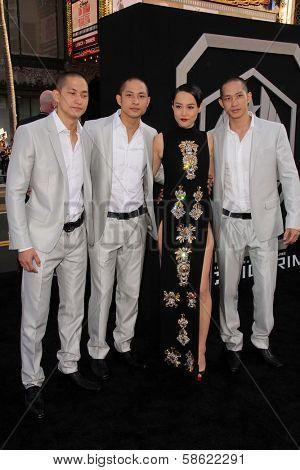 Rinko Kikuchi and the Luu Triplets at the