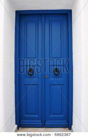 Cycladic Blue Door