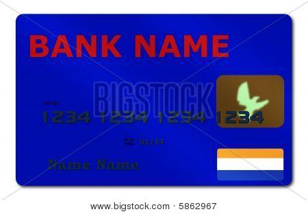 Blue Credit Card Shadow
