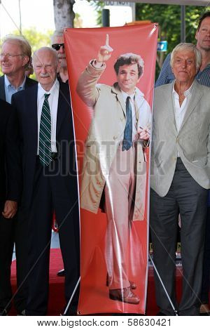 Ed Begley Jr., Dabney Coleman and Dick Van Dyke at the Peter Falk Star on the Hollywood Walk of Fame Ceremony, Hollywood, CA 07-25-13