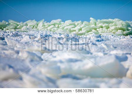 Baltic sea winter landscape