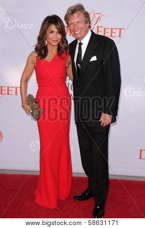 Paula Abdul and Nigel Lythgoe at the 3rd Annual Celebration of Dance Gala presented by the Dizzy Feet Foundation, Dorothy Chandler Pavilion, Los Angeles, CA 07-27-13