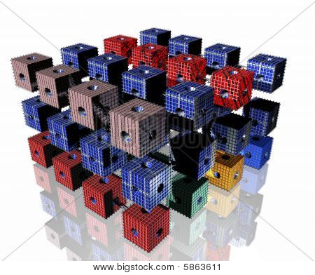 Colored Data Cube