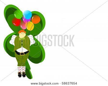 leprechaun large balloons clover